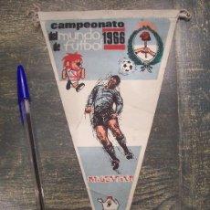 Coleccionismo deportivo: CAMPEONATO DEL MUNDO DE FUTBOL 1966 , BANDERIN DE ARGENTINA , PUBLICIDAD DE GIOR. Lote 24633263