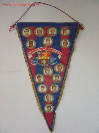 BANDERIN - FUTBOL - F.C. BARCELONA - HISTORIAL - AÑO 1981 (Coleccionismo Deportivo - Banderas y Banderines de Fútbol)