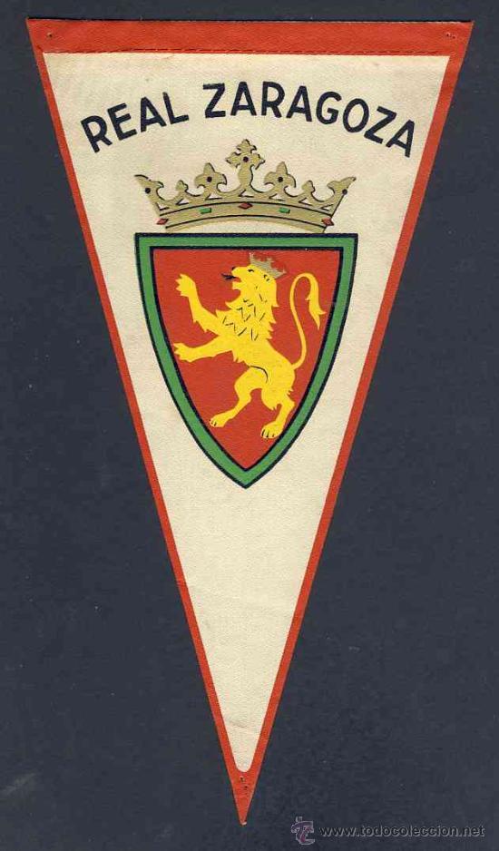 BANDERIN DEL REAL ZARAGOZA. FUTBOL (Coleccionismo Deportivo - Banderas y Banderines de Fútbol)