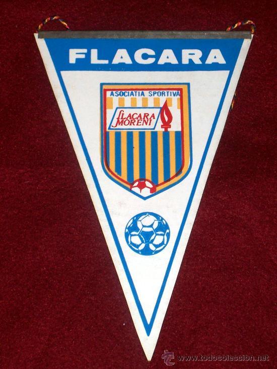 BANDERIN DE FUTBOL // FLACARA MORENI // RUMANIA (Coleccionismo Deportivo - Banderas y Banderines de Fútbol)