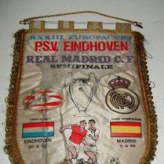 Coleccionismo deportivo: ANTIGUO BANDERIN DE FUTBOL - REAL MADRID & P.S.V. EINDHOVEN - COPA DE EUROPA - SEMIFINAL - AÑO 1988. Lote 18064905