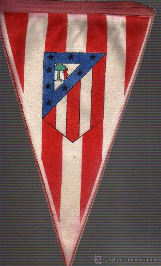 BANDERIN DE FUTBOL ATLETICO DE MADRID -AÑOS 60 APROXMTE (Coleccionismo Deportivo - Banderas y Banderines de Fútbol)
