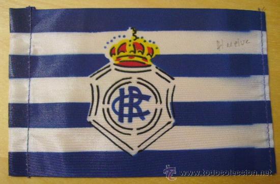 BANDERIN DE BICICLETA -RECREATIVO DE HUELVA- VIZCAYA -FUTBOL (Coleccionismo Deportivo - Banderas y Banderines de Fútbol)