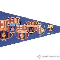 Coleccionismo deportivo: ADHESIVO BANDERIN ESCUDOS FC BARCELONA. BARÇA. MEDIDAS 15 X 31. NUEVO. FUTBOL. PEGATINA.. Lote 26756117