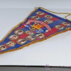 Coleccionismo deportivo: BANDERIN PEQUEÑO HISTORIAL DEL FUTBOL CLUB BARCELONA. Lote 25371136