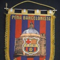 Coleccionismo deportivo: BANDERIN F.C. BARCELONA CON 3 AUTOGRAFOS ORIGINALES - PEÑA BARCELONISTA MIGUELTURRA-97 - BARÇA - . Lote 32524776