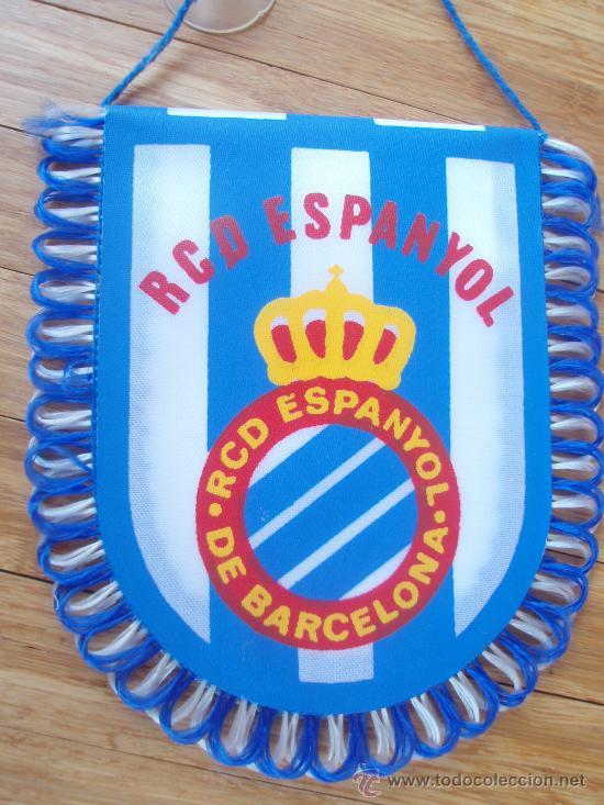 BANDERIN DEL R.C.D.ESPAÑOL (Coleccionismo Deportivo - Banderas y Banderines de Fútbol)