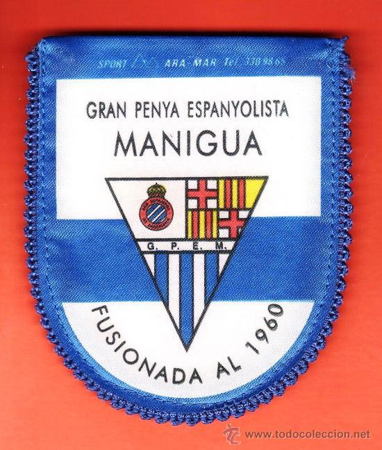 MINI BANDERIN - R.C.D. ESPAÑOL   ESPANYOL - PENYA ESPAÑOLISTA MANIGUA -  TELA - R- cf09144a979