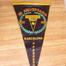 Coleccionismo deportivo: BANDERIN DEL 50 ANIVERSARIO DEL MUNDO DEPORTIVO DEL 1.956. Lote 32357162