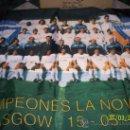 Coleccionismo deportivo: BANDERA MADRID CAMPEON LA NOVENA GLASGOW. Lote 47781629