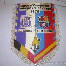 Coleccionismo deportivo: BANDERIN FUTBOL CLUB BARCELONA ....COPA DE EUROPA....1978. Lote 31394397