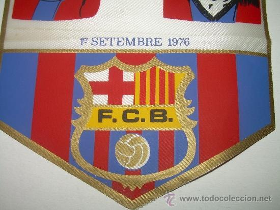 Coleccionismo deportivo: BANDERIN FUTBOL CLUB BARCELONA ....RIFE - SADURNI - TORRES.....1976 - Foto 3 - 31440629