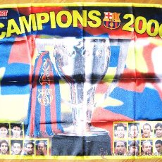 Coleccionismo deportivo: BANDERA FLAG FC BARCELONA - CAMPIONS 2006 - OFICIAL + SPORT. 90 X 70 CM. / 3. Lote 31903496