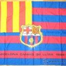Coleccionismo deportivo: BANDERA FLAG FC BARCELONA - CAMPIO DE LLIGA 84 - 85 - 140 X 83 CM. ANTIGUA Y BIEN CONSERVADA. / 4. Lote 31903618