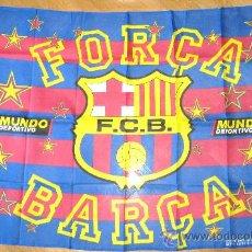 Coleccionismo deportivo: BANDERA FLAG FC BARCELONA - FORÇA BARÇA - FCB. 150 X 94 CM. OFICIAL + MUNDO DVO. / 6. Lote 31903765