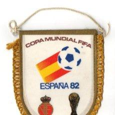 Collezionismo sportivo: BANDERIN DE FUTBOL DEL MUNDIAL ESPAÑA 82 SELECCION ESPAÑOLA 1982 FIFA FEF MAPA CIUDADES SEDE. Lote 26668139