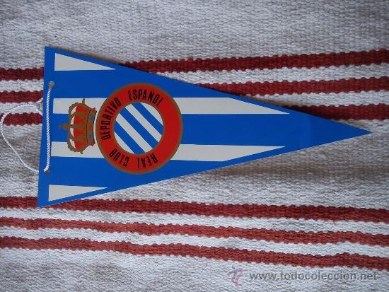 BANDERÍN PLÁSTICO RCD ESPANYOL RCD ESPAÑOL ESCUDO ANTIGUO (Coleccionismo  Deportivo - Banderas y Banderines de abd9f7ce225