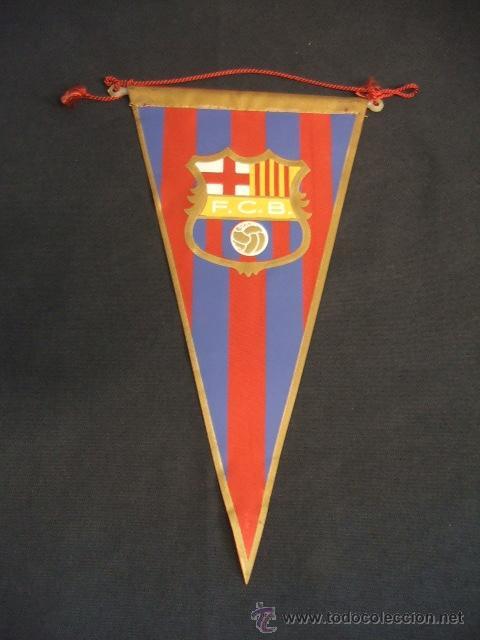 BANDERIN - FUTBOL CLUB BARCELONA - (Coleccionismo Deportivo - Banderas y Banderines de Fútbol)