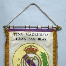 Coleccionismo deportivo: BANDERÍN PEÑA MADRIDISTA GRAN SAN BLAS 1978 REAL MADRID 15 - 4 1978. Lote 32648548