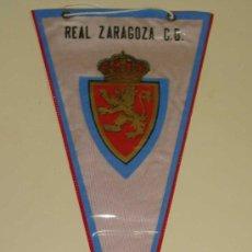Coleccionismo deportivo: BANDERÍN FÚTBOL. REAL ZARAGOZA C.D. 28 CM . Lote 33913177