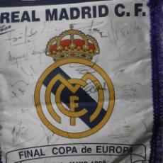 Coleccionismo deportivo: BANDERIN REAL MADRID C.F. - JUVENTUS 20 DE MAYO 1998 7ª COPA DE EUROPA BANDERIN-114. Lote 34306919