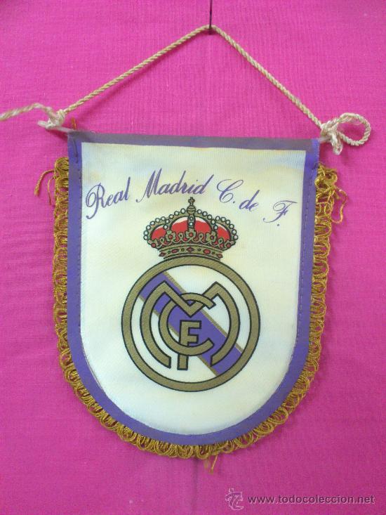 BANDERIN FUTBOL REAL MADRID (Coleccionismo Deportivo - Banderas y Banderines de Fútbol)