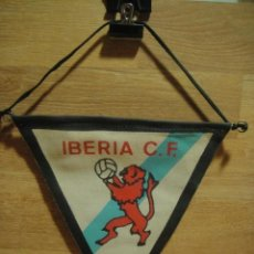 Coleccionismo deportivo: BANDERIN DE TELA DEL IBERIA C . F . DE SAN MIGUEL DE REINANTE - LUGO - 25 X 20. Lote 35681009