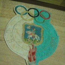 Coleccionismo deportivo: SOCIEDAD DEPORTIVA EJEA DE LOS CABALLEROS ANTIGUO BANDERIN O METOPA EN TELA BORDADA. Lote 35681081