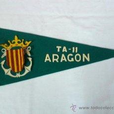 Coleccionismo deportivo: BANDERIN MILITAR TA - 11 ARAGON . TIPO FIELTRO. AÑOS 60. Lote 35844602
