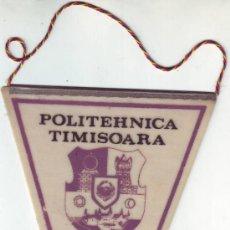 Coleccionismo deportivo: BANDERIN POLITEHNICA TIMISOARA RUMANIA/ROMANIA.1989.. Lote 36477186