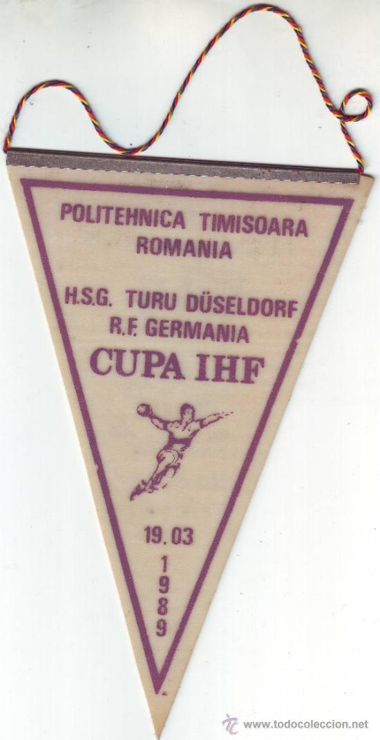 Coleccionismo deportivo: BANDERIN POLITEHNICA TIMISOARA RUMANIA/ROMANIA.1989. - Foto 2 - 36477186