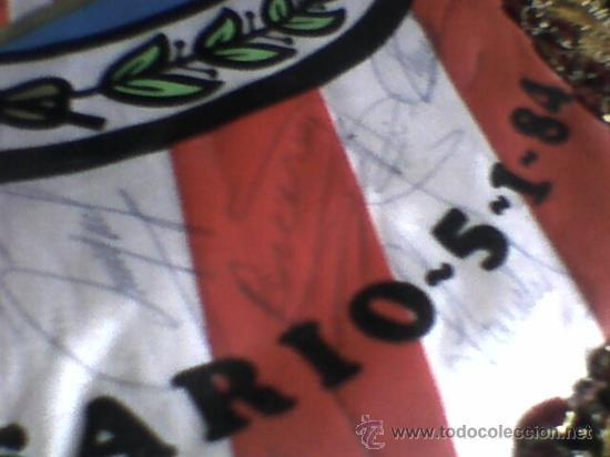 Coleccionismo deportivo: Banderin firmado futbol 1983 84 peña atletica carabanchel autografos plantilla At Madrid atletico - Foto 10 - 36502545