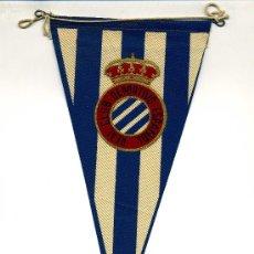 Coleccionismo deportivo: BANDERÍN REAL CLUB DEPORTIVO ESPAÑOL. (REGALO DE LA EDITORIAL BRUGUERA). Lote 36644257