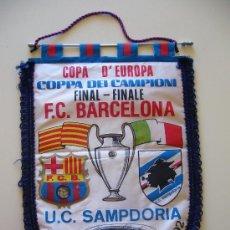 Coleccionismo deportivo: BANDERÍN ANTIGUO DEL CLUB DE FUTBOL BARCELONA. SAMPDORIA FINAL COPA DE EUROPA WEMBLEY 1992. Lote 39739158