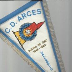 Coleccionismo deportivo: BANDERIN DE LAS BODAS DE ORO DEL C.D. ARCES DE VALLADOLID. Lote 37889700