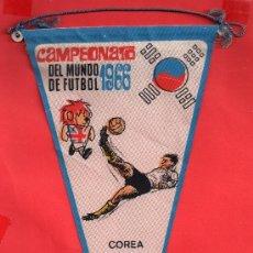 Coleccionismo deportivo: - 8067 BONITO BANDERIN COREA MUNDIAL FUTBOL DEL AÑO 1966 PUBLICIDAD GIOR VER BIEN LA FOTOS. Lote 37941272