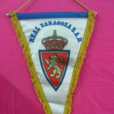 Coleccionismo deportivo: BANDERIN GRANDES DIMENSIONES REAL ZARAGOZA. FUTBOL.. Lote 38117659