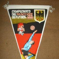 Coleccionismo deportivo: BANDERIN COPA DEL MUNDO DE FUTBOL. INGLATERRA. 1966. EQUIPO ALEMANIA. GENTILEZA DE GIOR.. Lote 38684038