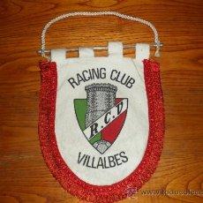 Coleccionismo deportivo: BANDERÍN RACING CLUB VILLALBES. Lote 38858853