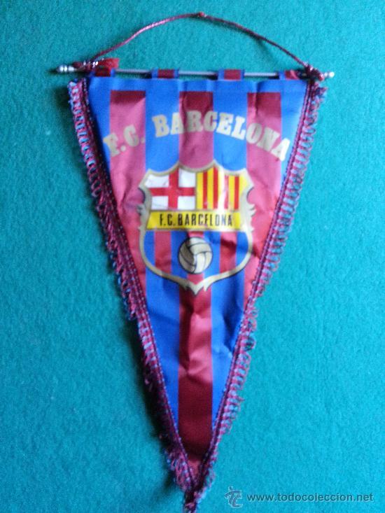 BANDERIN DEL BARCELONA (Coleccionismo Deportivo - Banderas y Banderines de Fútbol)