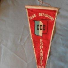 Coleccionismo deportivo: BANDERIN CLUB DEPORTIVO ESPAÑOL DE BUENOS AIRES - AÑOS 60 - EN TELA - MIDE 44,5CMS. Lote 39428839