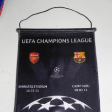 Coleccionismo deportivo: ANTIGUO BANDERIN, FUTBOL CLUB BARCELONA, ARSENAL, CHAMPIONS LEAGUE, EMIRATES STADIUM 16-02-2011, CAM. Lote 38278194