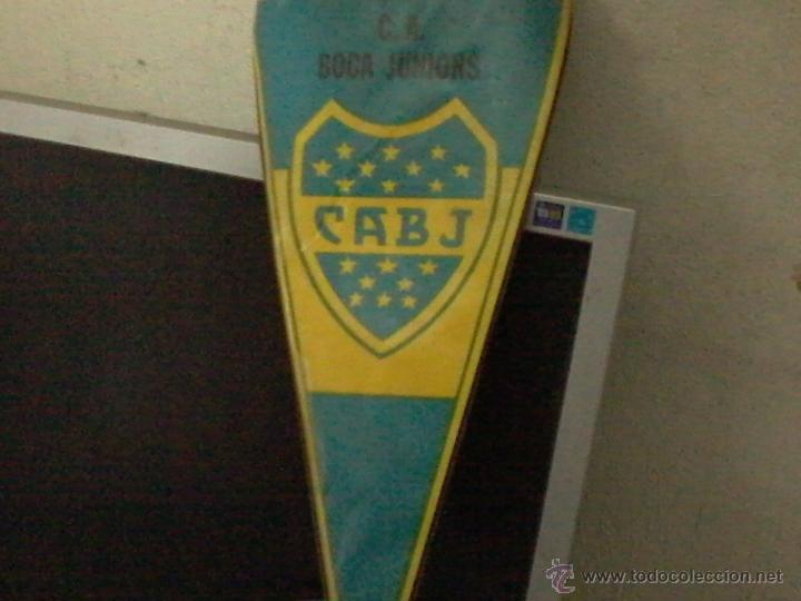BANDERIN ANTIGUO BOCA JUNIORS (Coleccionismo Deportivo - Banderas y Banderines de Fútbol)