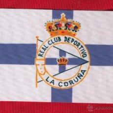 Coleccionismo deportivo: 10 BANDERITAS DEL REAL CLUB DEPORTIVO LA CORUÑA DE 15X10. Lote 176040018