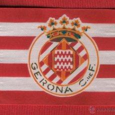 Coleccionismo deportivo: 5 BANDERITAS DEL GERONA CLUB DE FUTBOL DE 15X10. Lote 192409598