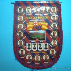 Coleccionismo deportivo: BANDERIN FUTBOL CLUB BARCELONA TETRACAMPIONS 94 - 95. Lote 41624537