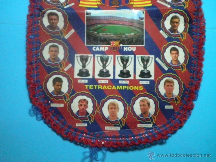 Coleccionismo deportivo: BANDERIN FUTBOL CLUB BARCELONA TETRACAMPIONS 94 - 95 - Foto 2 - 41624537