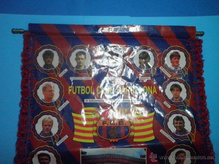 Coleccionismo deportivo: BANDERIN FUTBOL CLUB BARCELONA TETRACAMPIONS 94 - 95 - Foto 3 - 41624537