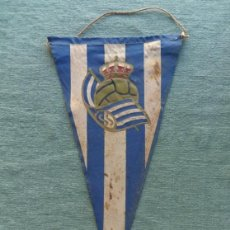 Coleccionismo deportivo: BANDERIN DE FUTBOL- REAL SOCIEDAD DE SAN SEBASTIAN. Lote 41753770