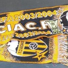 Coleccionismo deportivo: BUFANDA VALENCIA CAMPEON FUTBOL DOBLETE LIGA Y UEFA EUROPA LIGUE. Lote 167786510